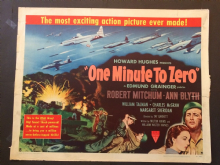 One Minute to Zero (1952) Film Poster Robert Mitchum Ann Blyth - Style B